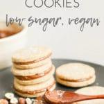 Gluten-Free Hazelnut Shortbread Cookies | Vegan, Low Sugar